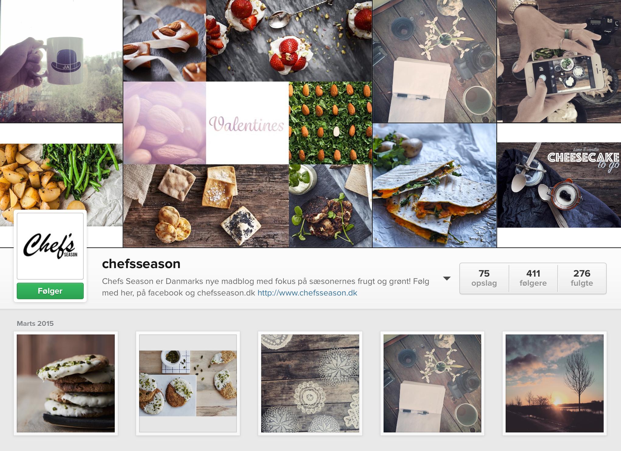 Chefsseason dansk madblog sæsonvarer